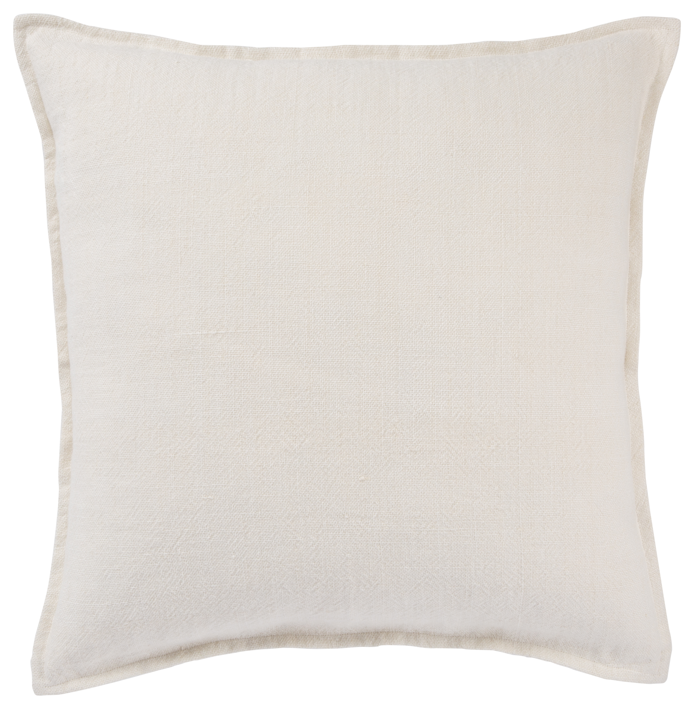 Jaipur Living Blanche Solid Ivory Poly Throw Pillow