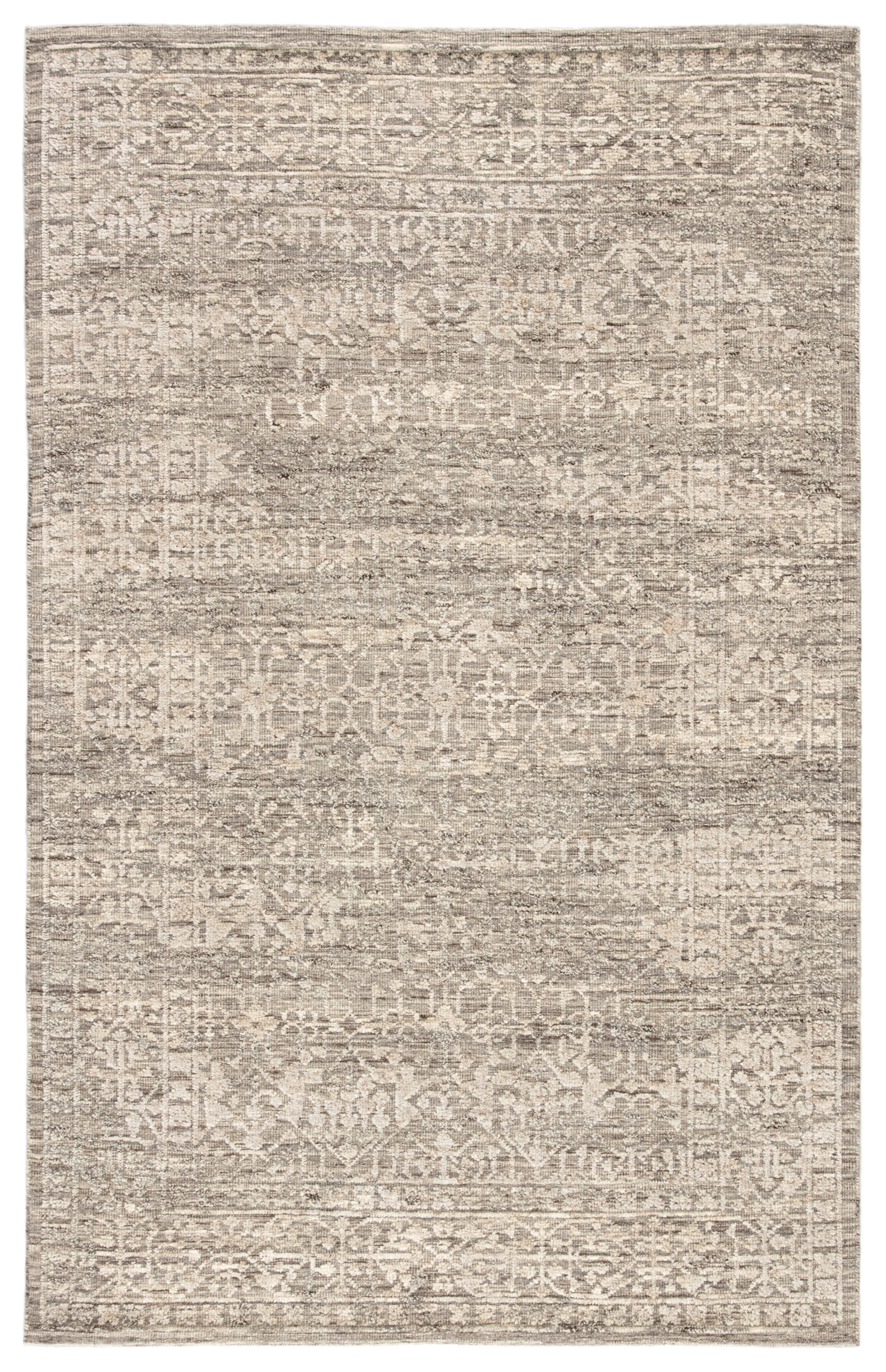 Jaipur Living Sian Hand-knotted Floral Gray/ Beige Area Rug