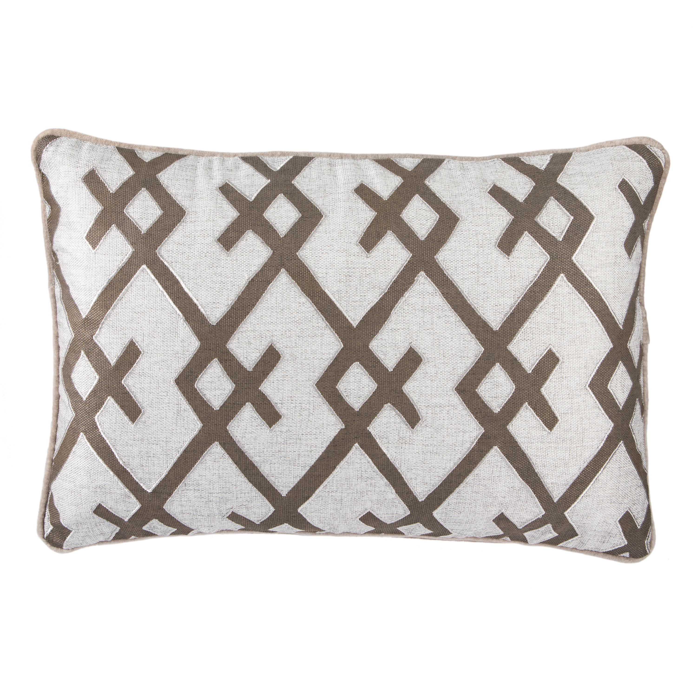 Nikki Chu By Jaipur Living Mhina Silver/ Gray Geometric Down Throw Pillow