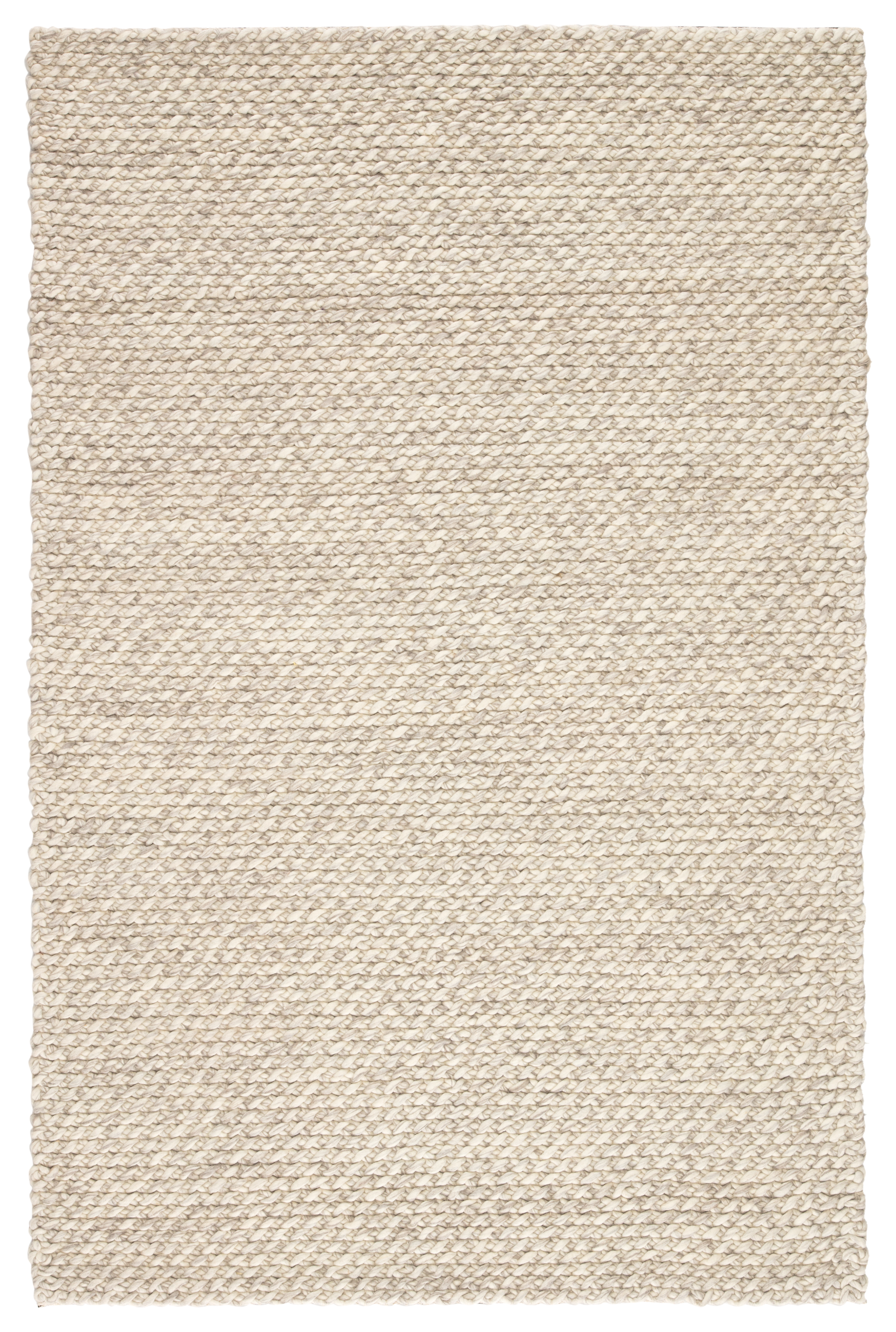 Jaipur Living Alta Handmade Solid Gray/ White Area Rug
