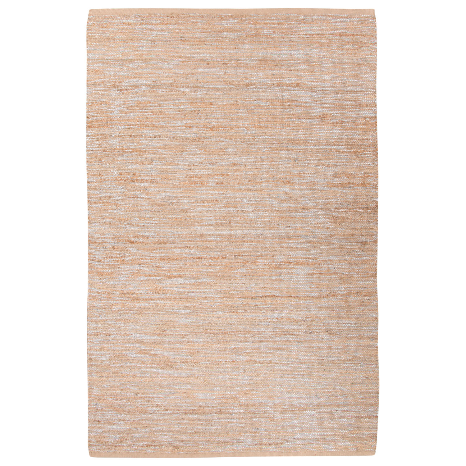 Nikki Chu By Jaipur Living Vega Natural Solid Beige/ Silver Area Rug